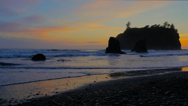 Sunset at Ruby Beach