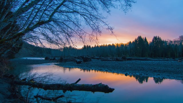 Sunset at Hoh River