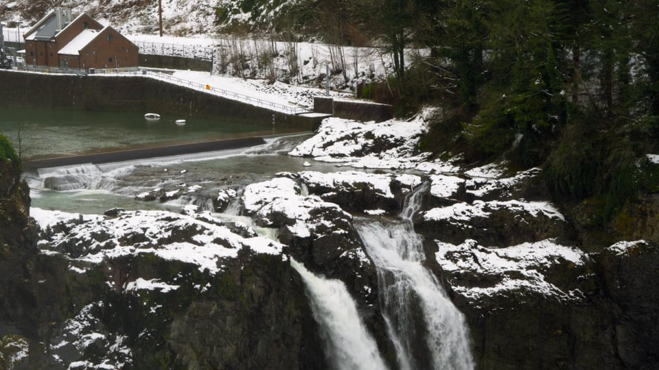 Snoqaulmie Falls in Winter