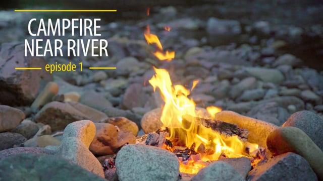 Campfire near River