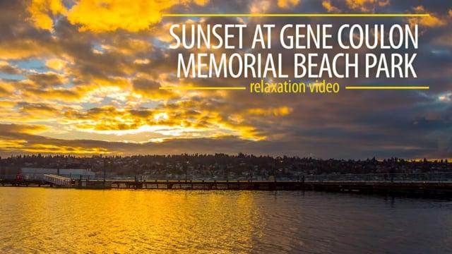 Sunset at Gene Coulon Memorial Beach Park