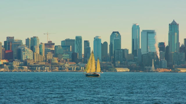 View from Don Armeni Boat Ramp, Seattle, WA
