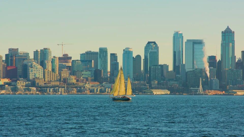 View from Don Armeni Boat Ramp, Seattle, WA