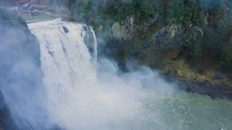Snoqualmie Falls after Heavy Rain